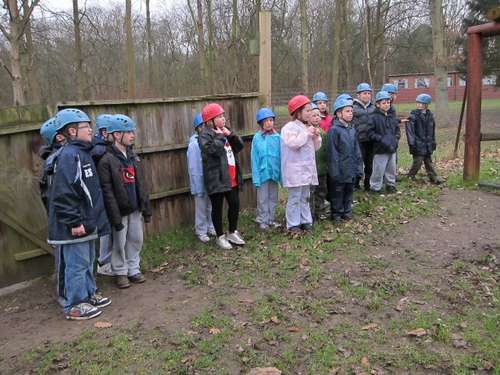 lining up for the assault course